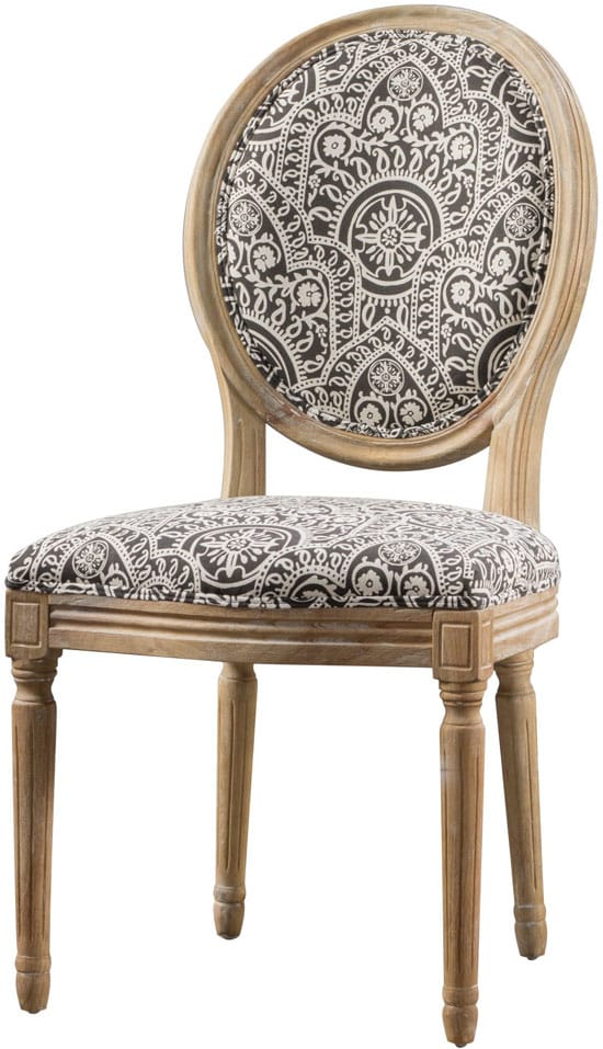 Phinnaeus Patterned Fabric Dining Chair