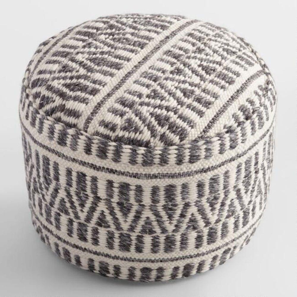 Woven Textured Floor Pouf
