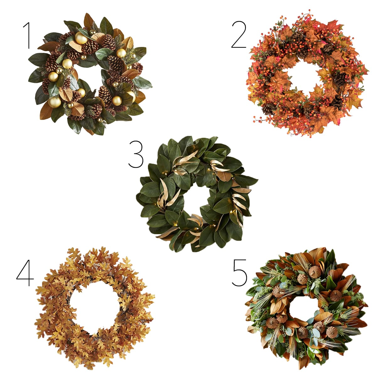 Fall-inspired wreaths