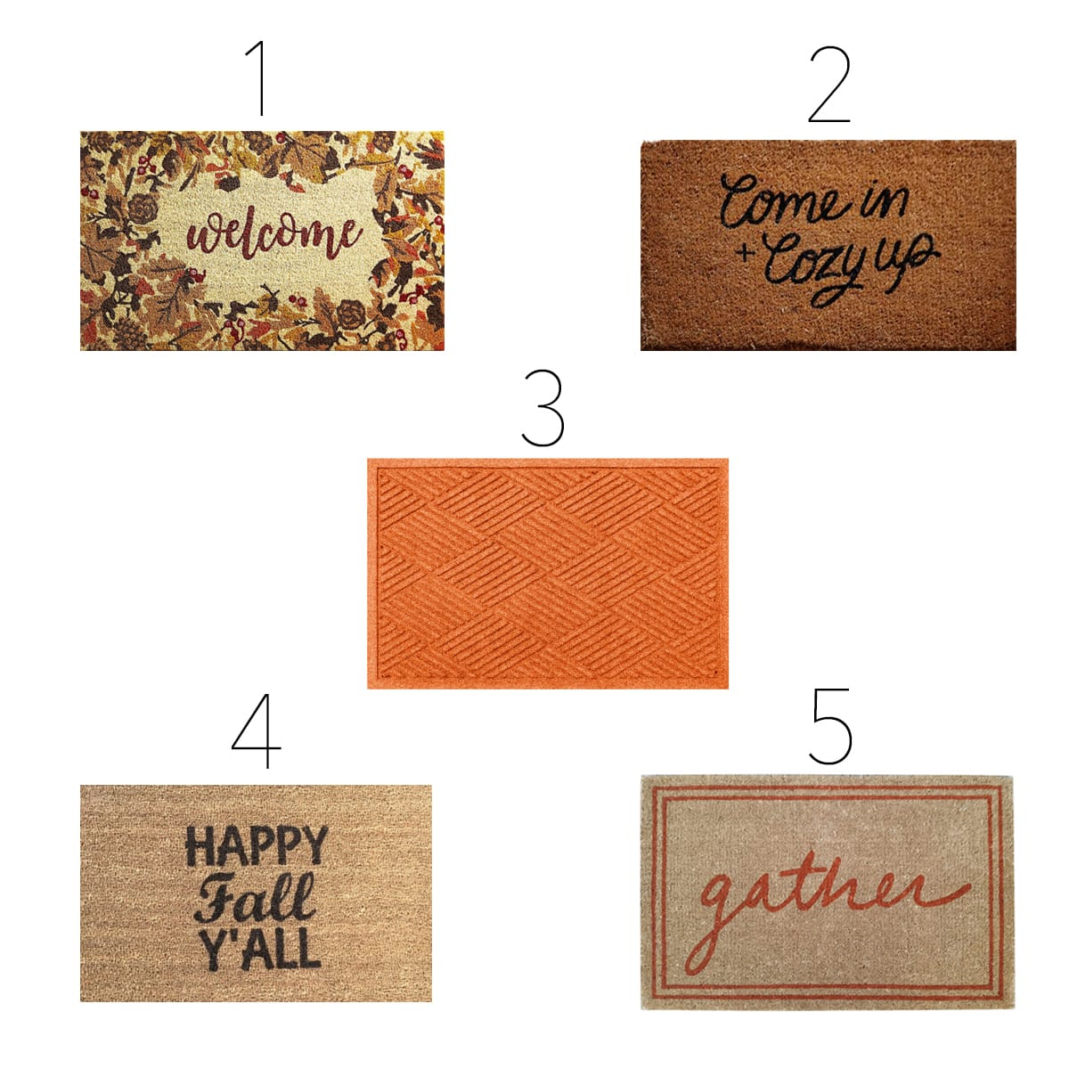 Fall-inspired doormats