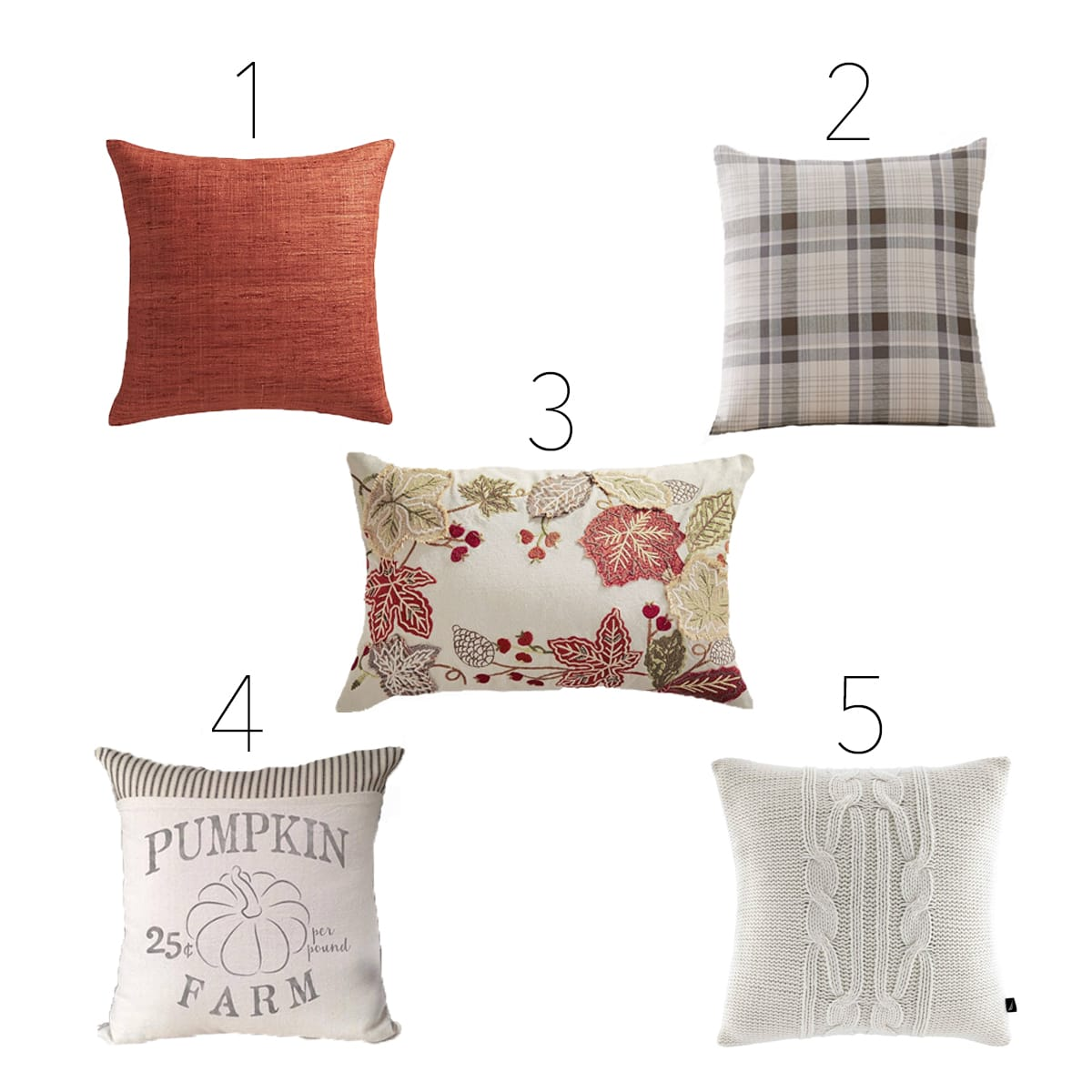 Fall-inspired pillows