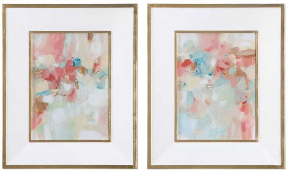 2 Piece Framed Painting Print Set