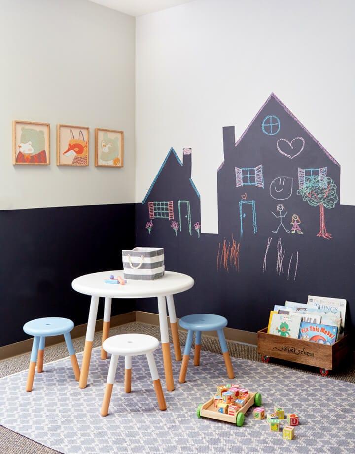 Kids room chalk paint