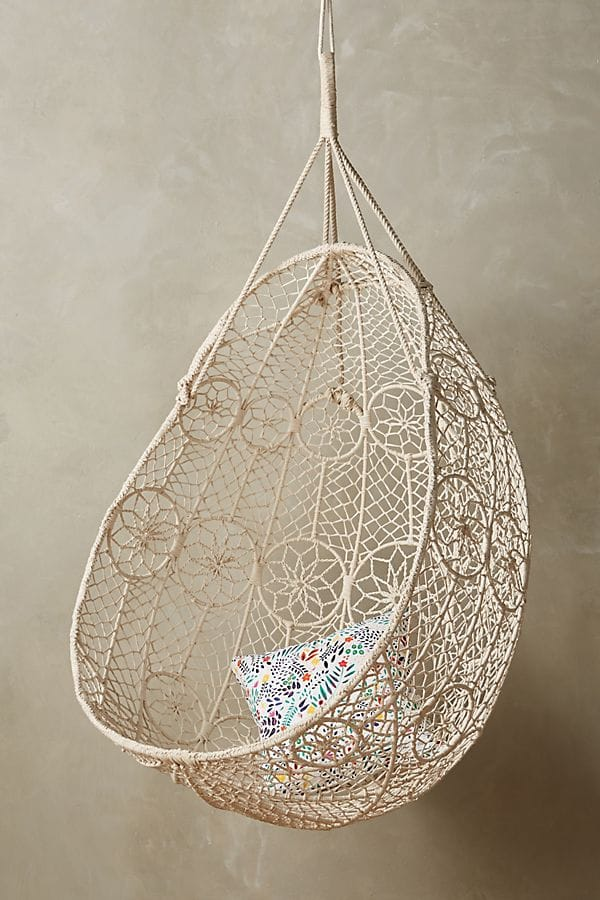 Kids room hanging chair