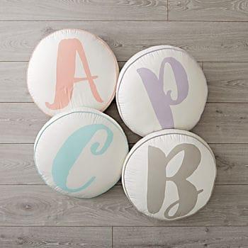 Kids room alphabet pillows