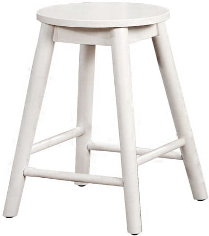 White backless stool