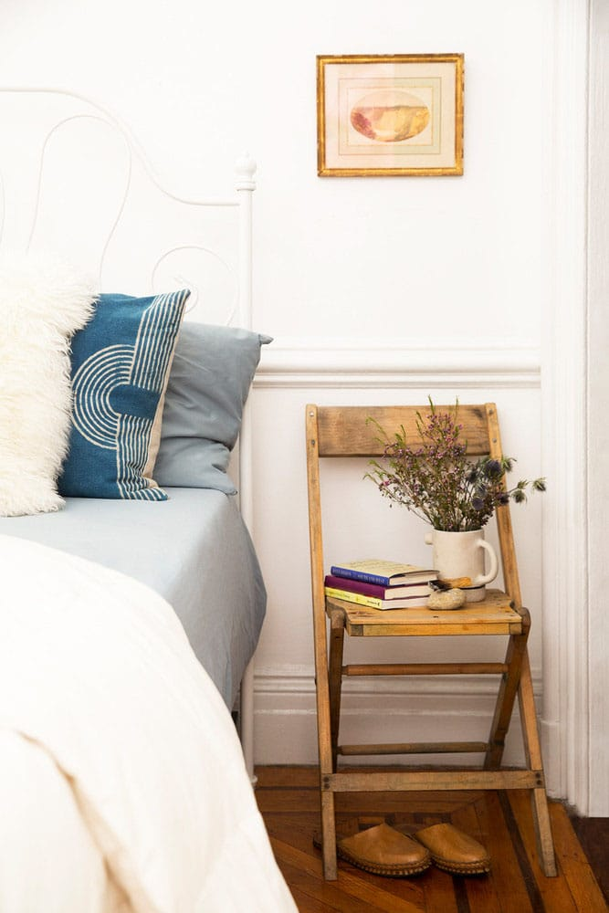Bedside table seating