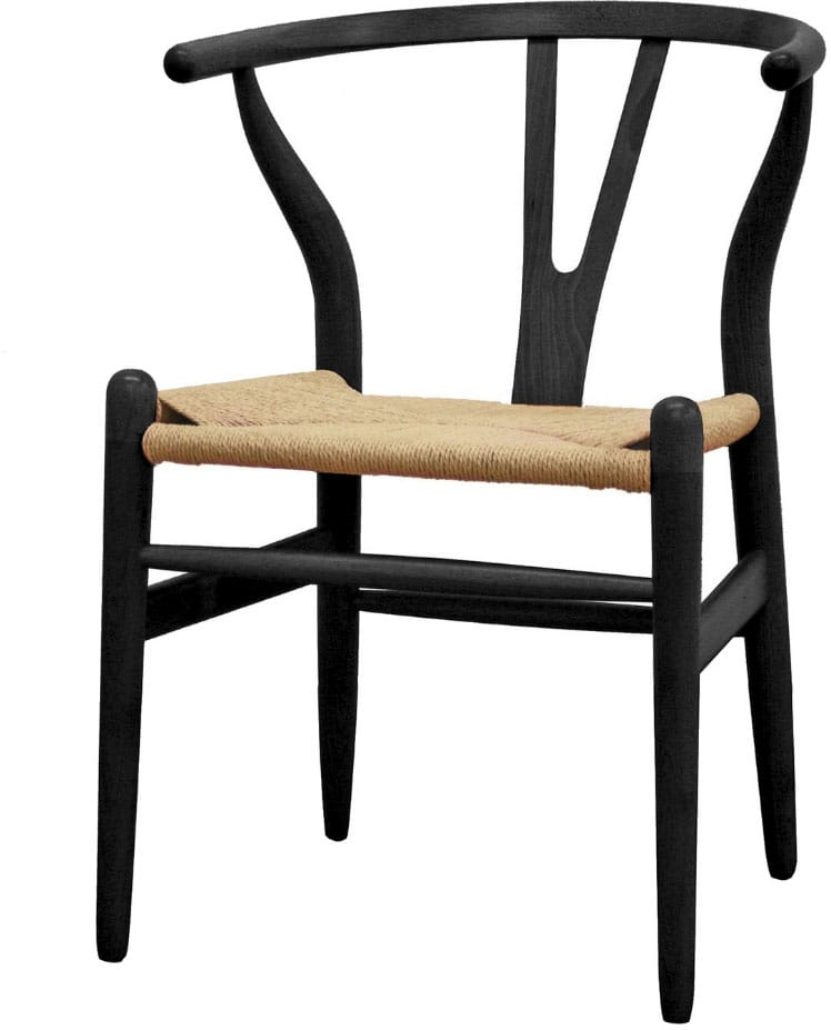 Black Wishbone Accent Chair