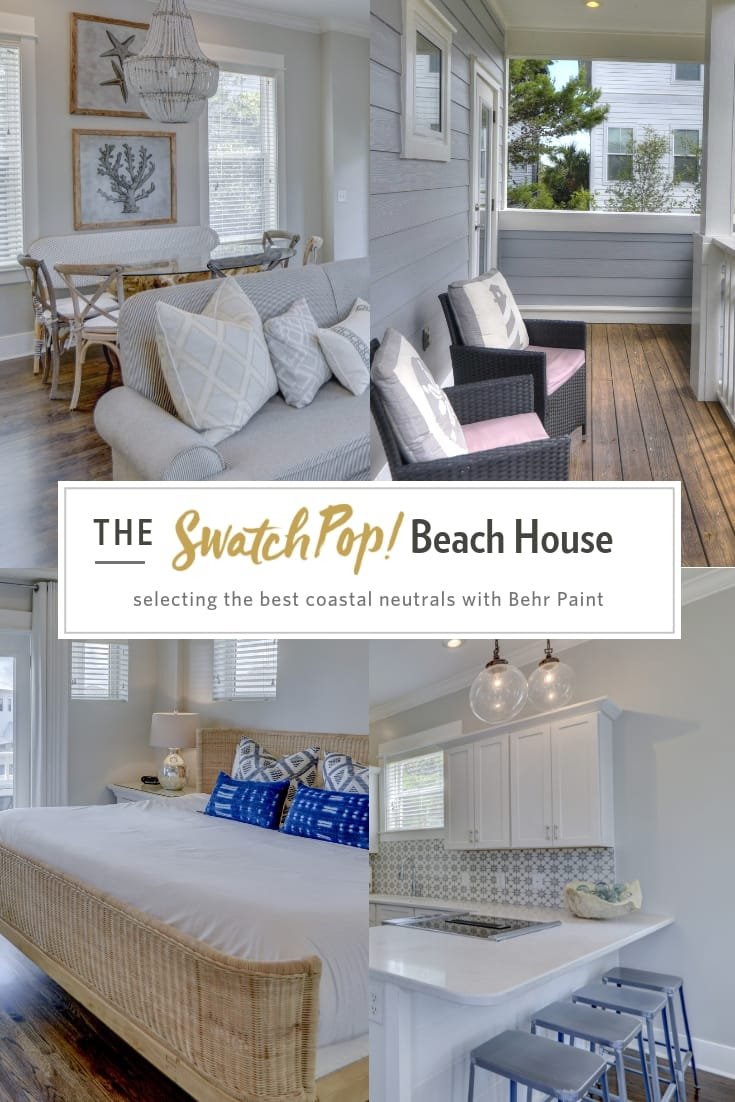 SwatchPop! Beach House coastal neutrals with Behr Paint