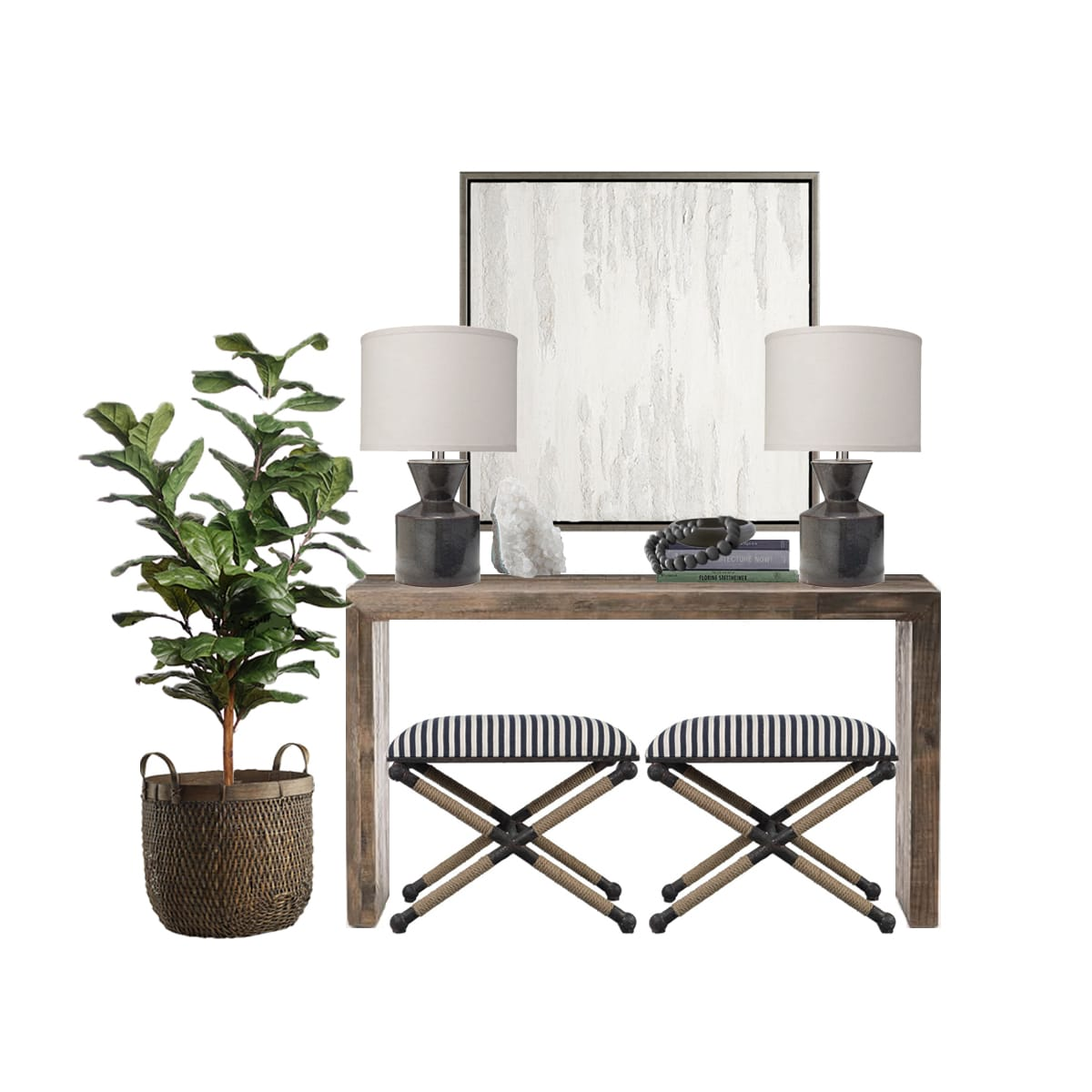 Console Table + Wall Art