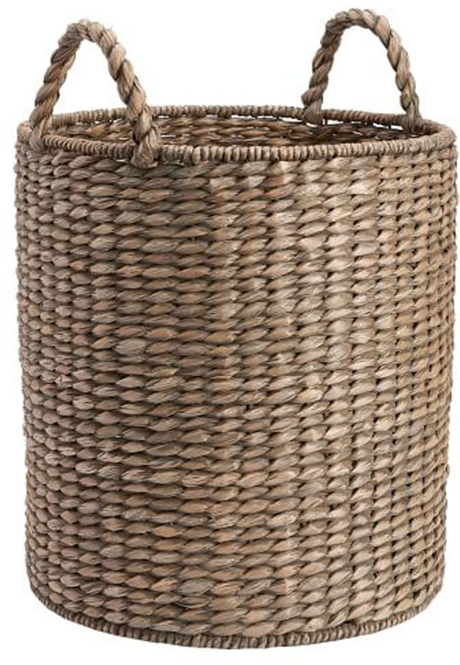 CHARLESTON BASKET TOTE, GRAY