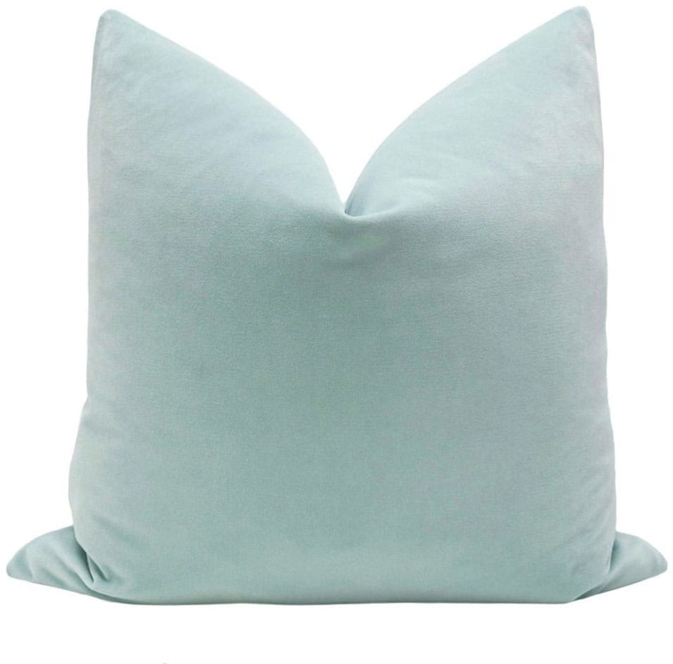 Signature Velvet // Sea Blue Pillow