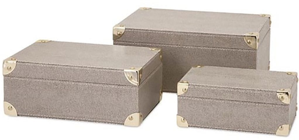 Shagreen Storage Boxes