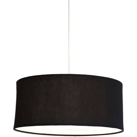Black drum shade chandelier