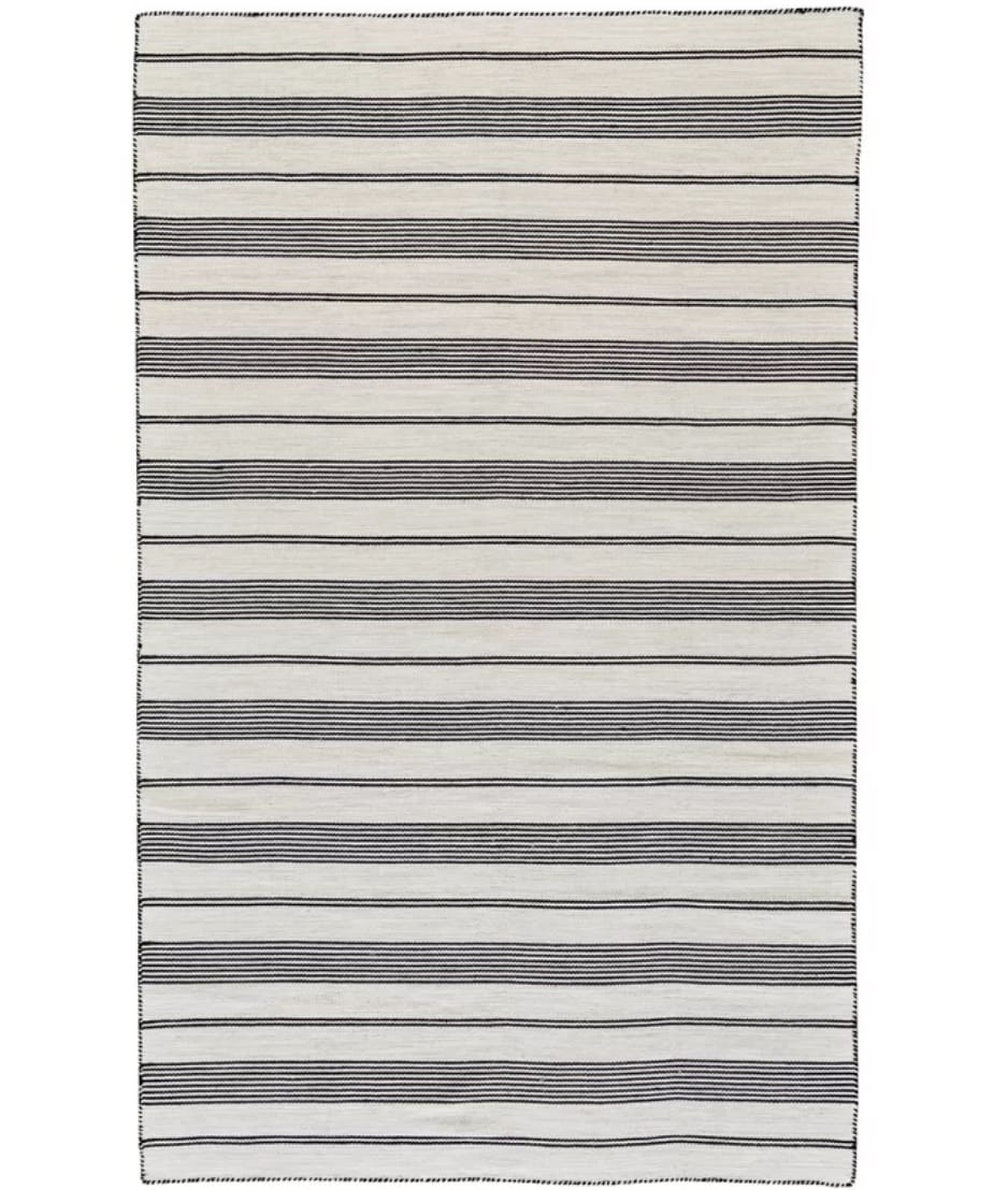 Alicea Handwoven Black Indoor/Outdoor Area Rug