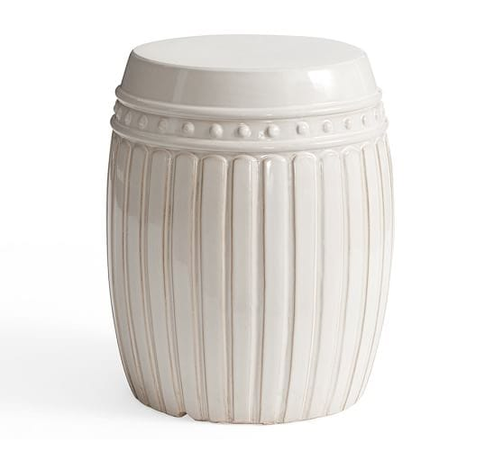Reeded Ceramic Accent Table