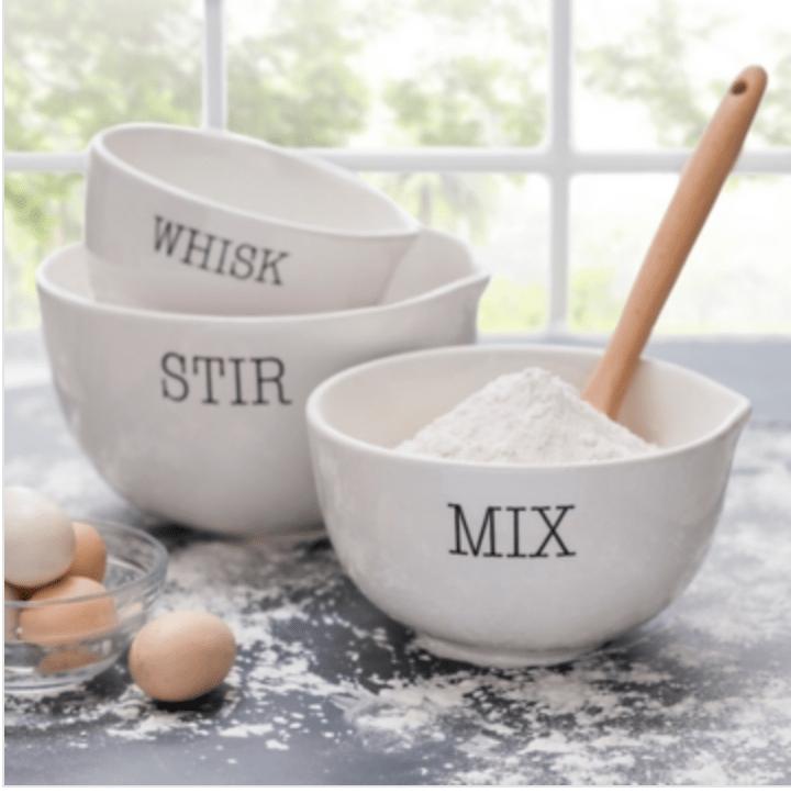 Set of 3 mixing bowls