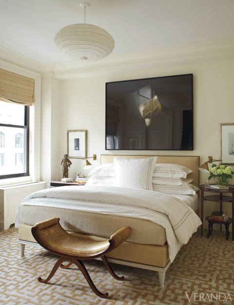 How to Decorate Above A Bed - Large Scale Art