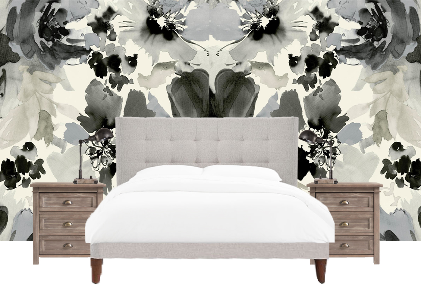 How to Decorate Above A Bed - Accent Wall