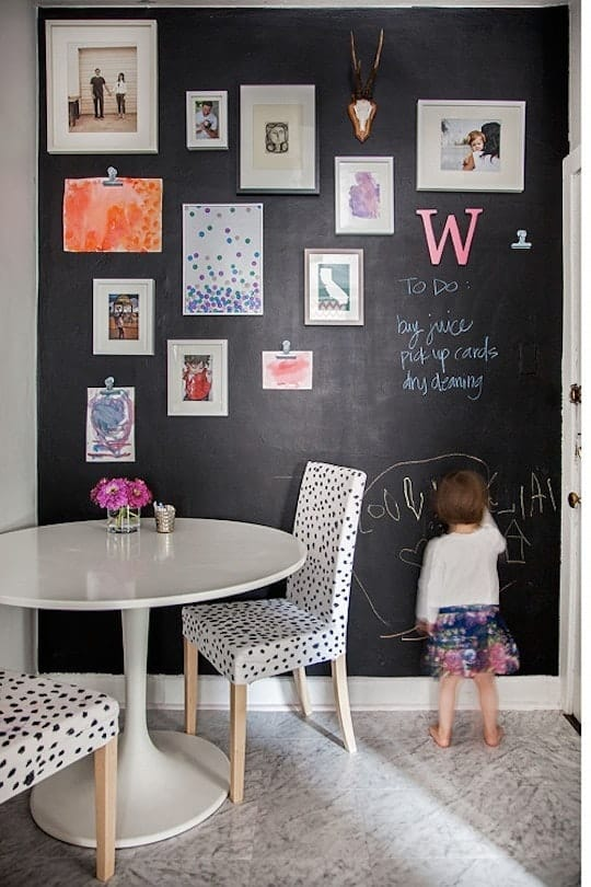 How to hang kids art