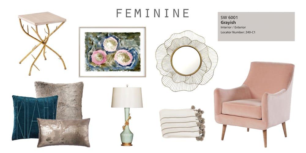 Feminine interior design style