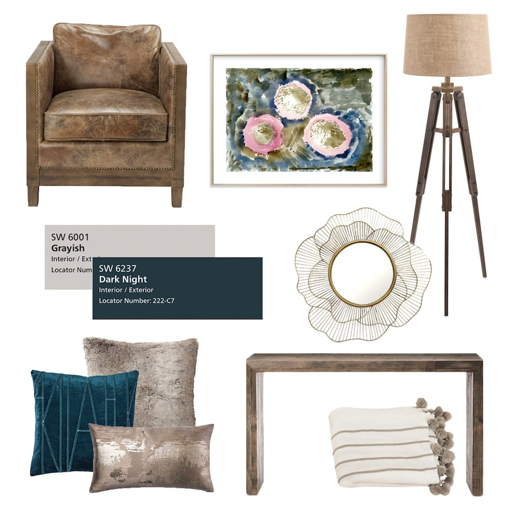 Mix feminine and masculine interior design in same room