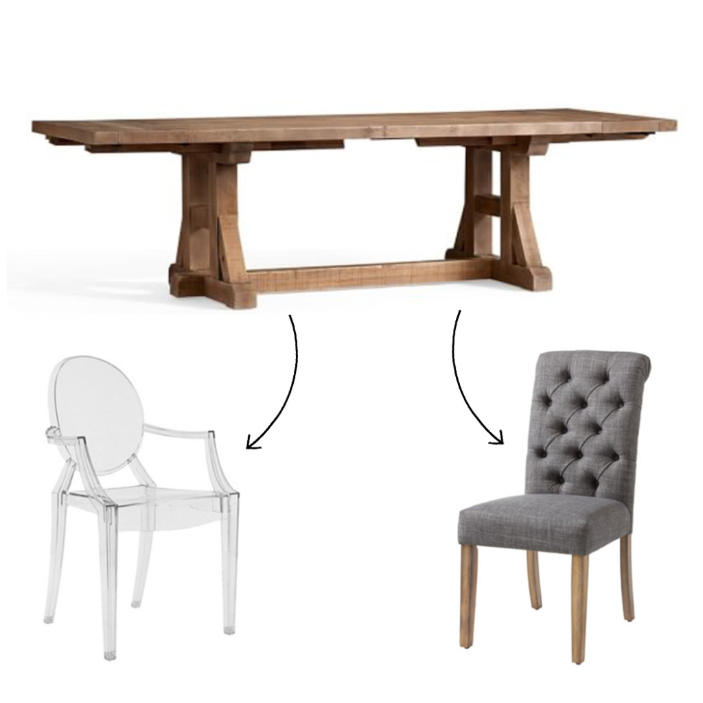 How To Mix And Match Dining Room Furniture Pop Talk Swatchpop