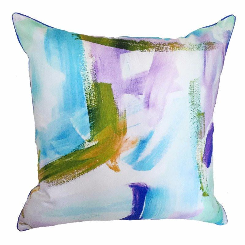 Outdoor Pillow Cotton Candy Blue