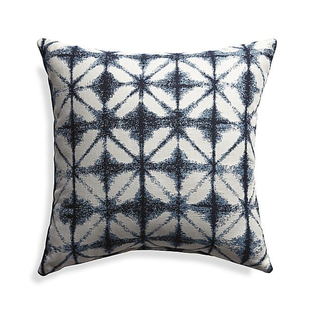 Sunbrella Shibori Navy Outdoor Pillow