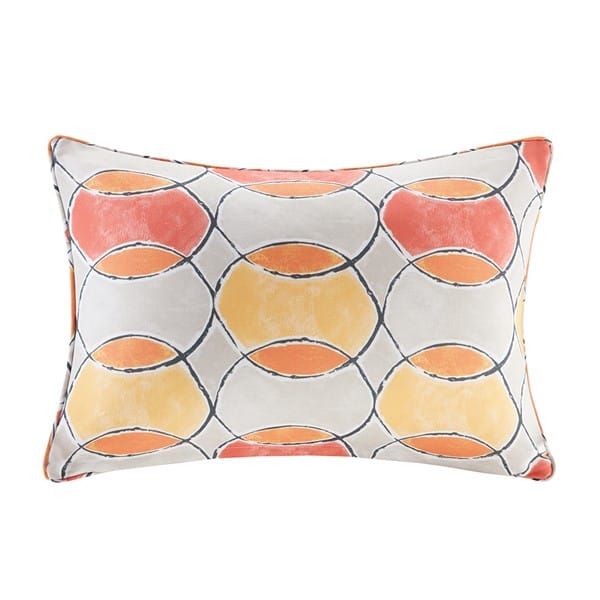 Gaviota Printed Circles 3M Scotchgard Outdoor Oblong Pillow
