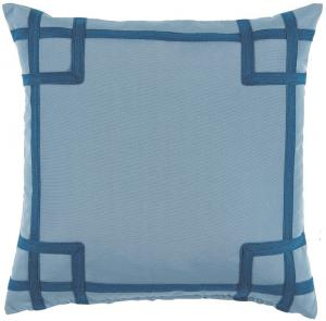 Rio Tidal with Teal Tape Outdoor Pillow