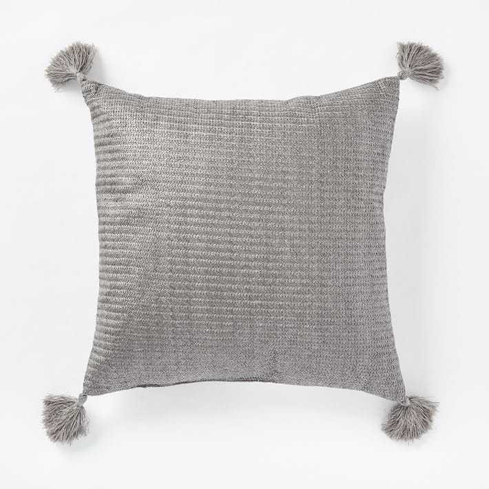 Outdoor Solid Basketweave Pillows