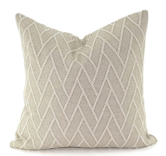 Beige Chevron Pillow