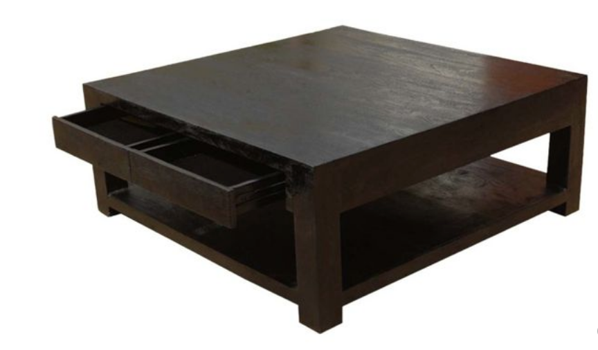 Espresso square coffee table