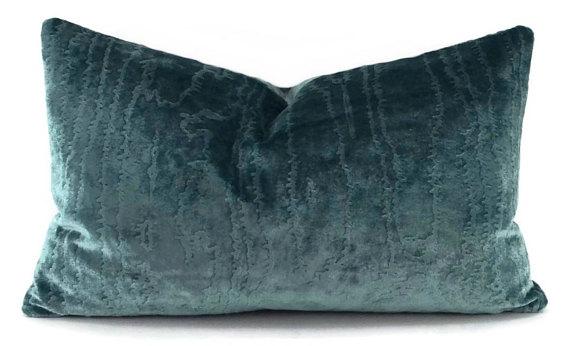 Turquoise Lumbar Pillow