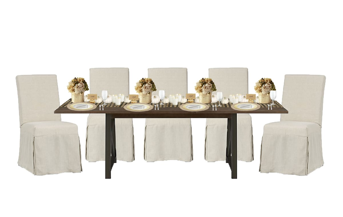 Golden Glam Thanksgiving Table