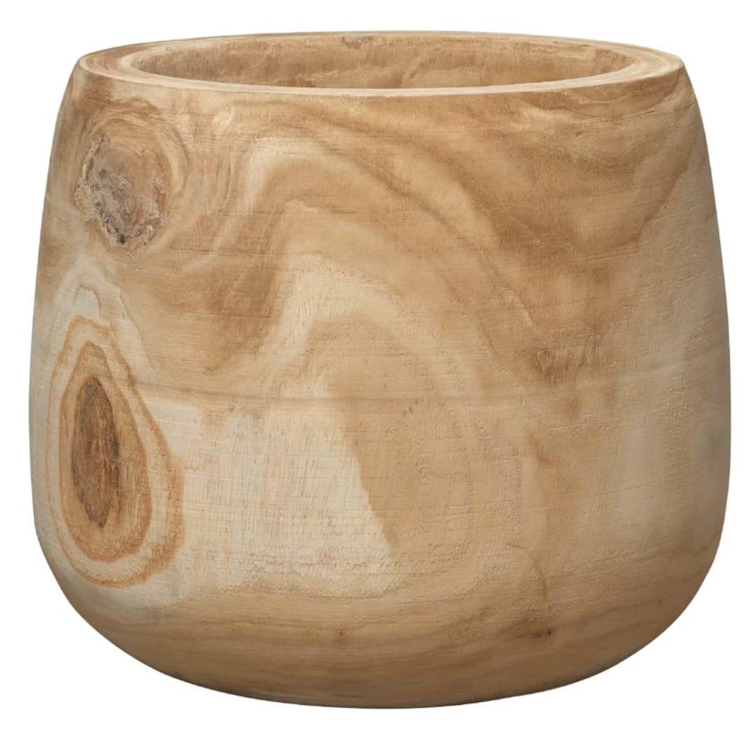 Archbald Cylinder Natural Wooden Vase