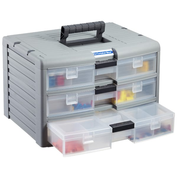 3-Case Storage Chest Grey