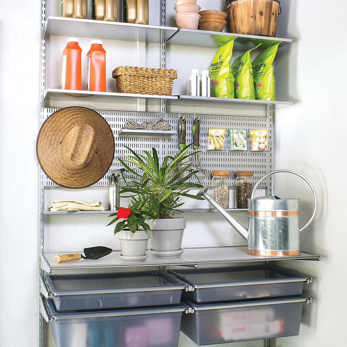 Elfa Custom Shelving and drawers