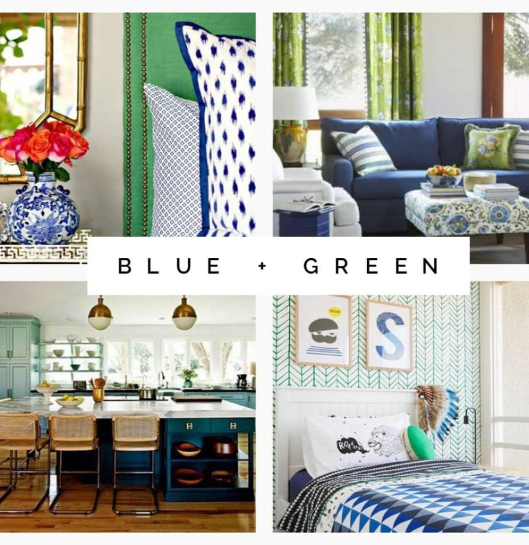 Blue and Green interior design examples