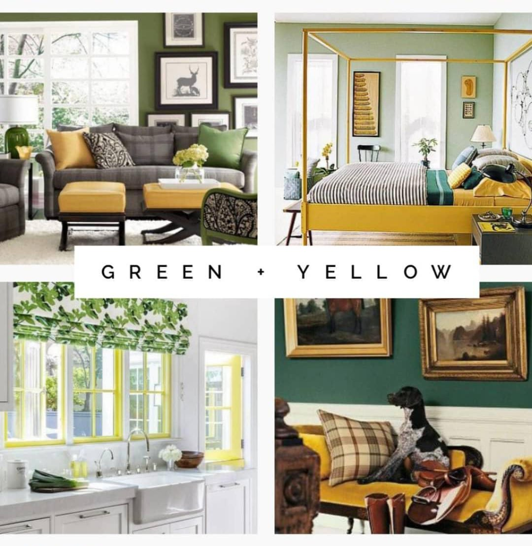 Green and yellow interior design examples