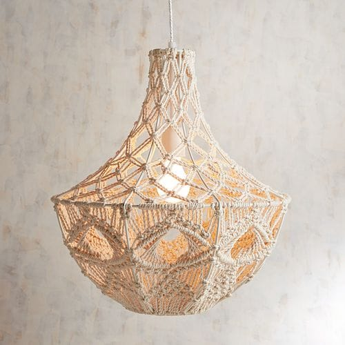Grand Macrame Pendant Light