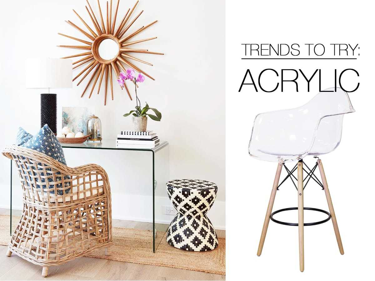 Trends to Try: Acrylic