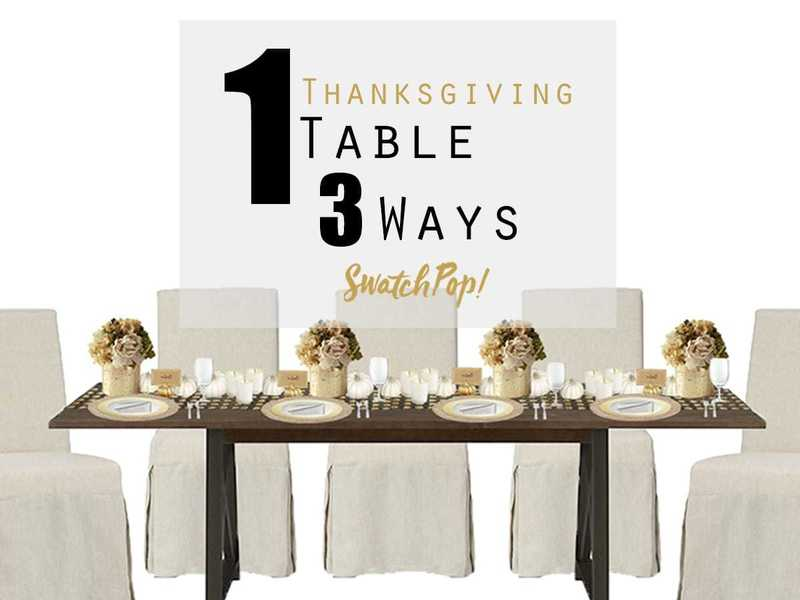 1 Thanksgiving Table 3 Ways