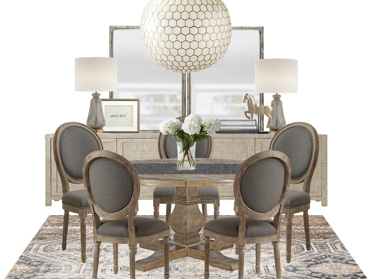 1 Round Dining Table 3 Ways
