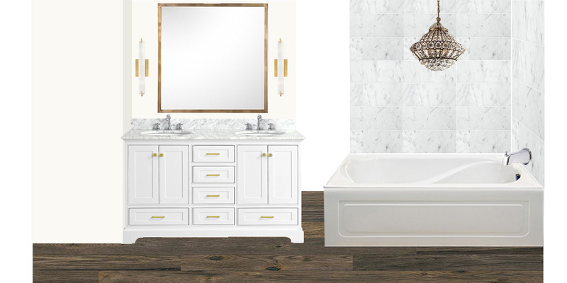 Pallante master bath gold