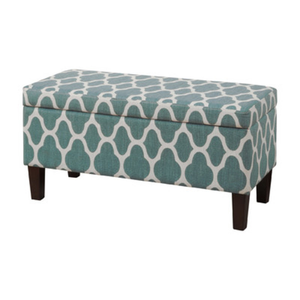 Large decorative storage ottoman