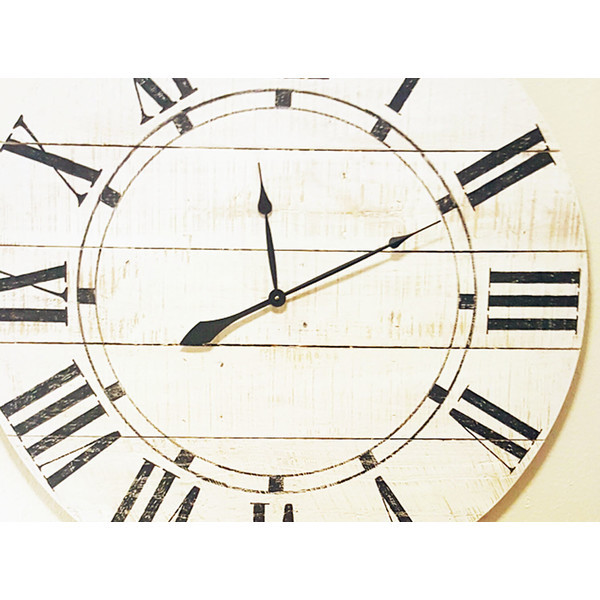 Brandt works llc oversized vintage wall clock