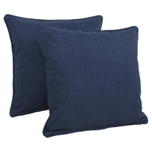 Blazing needles solid indoor outdoor throw pillow