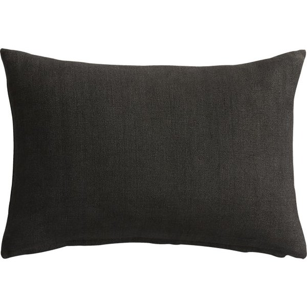 18x12 linon dark grey pillow
